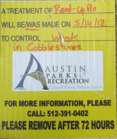 roundup treatment warning sign